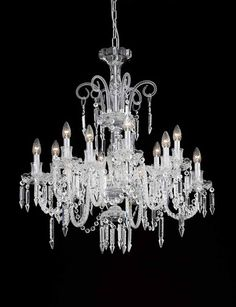 TOPDOMUS Crystal Chandelier or 474 6 6 Light with Coloured Lead 30 Pendants | eBay