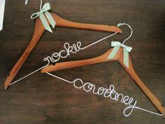 Erica May Made. Bridesmaid Hangers.