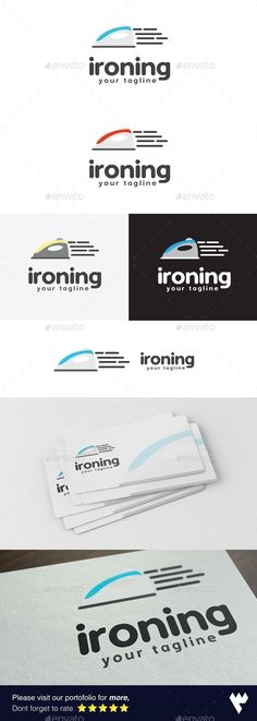 Ironing Laundry Logo Template