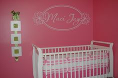 Pottery Barn bedding..... But I don't think we will go with the same super pink walls.