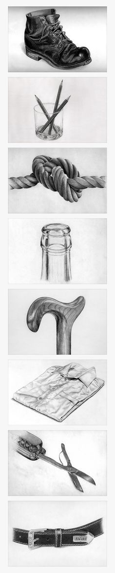"""Pencil Drawing """"Found object"""" sketching exercise http://www.mannyyoung.co.uk/"""