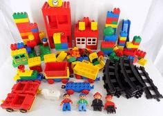Lego Duplo Building Blocks Parts 150+ Piece Lot Train Tracks Figures Buildings  #LEGO