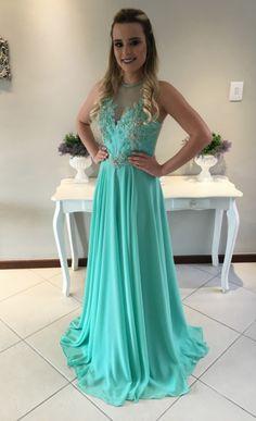 Aqua Elegant Evening Dresses for Women