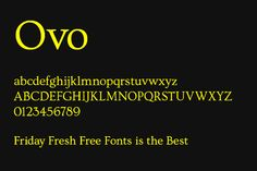 nice free serif font.  Friday Fresh Free Fonts 165