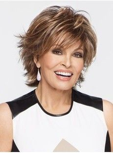 RAQUEL WELCH -            2015 new Natural Blonde Straight Lambskin Short Wig For Woman free shipping