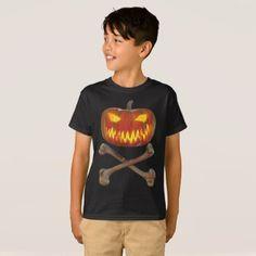 Kids Pumpkin cross bones T-Shirt - Halloween happyhalloween festival party holiday