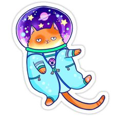 Cosmocat is ready for adventures! And cat-astrophes ♥ part of the daily doodle challenge ♥ Paint Tool SAI • Also buy this artwork on stickers, apparel, phone cases, and more.