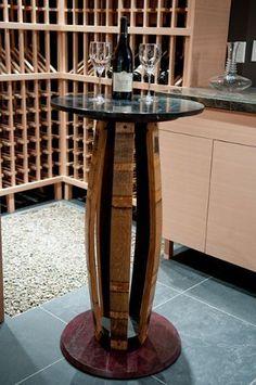 Koletic Designs Custom Fine Furniture - A beautiful addition to an amazing wine cellar this & Vinoture | Reclaimed Wine Barrel Furniture | | Allison Chair ... islam-shia.org