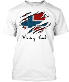Viking Roots White T-Shirt Front
