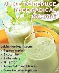 Juice to reduce free radical damage