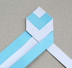 Braid Your Paper into chevron bookmarks