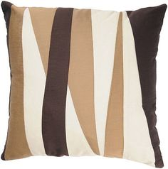 Rizzy Home Brown and Cream Decorative Throw Pillow T02512 Set of Two | eBay