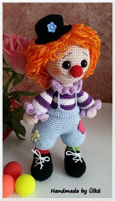 """Puppen - eBook Amigurumi Clown """"Leo"""" Häkelanle... - ein Designerstück von handmade-by-ulku bei DaWanda"""