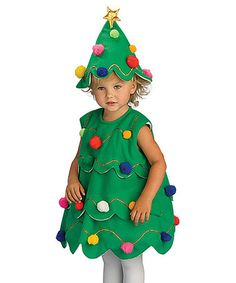 Love this Green Lil Xmas Tree Dress-Up Set - Kids on #zulily! #zulilyfinds