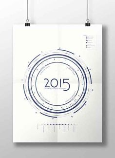 2015 radial wall calendar design