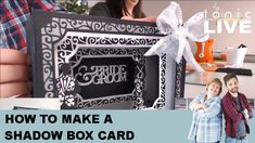 Live: How To Make A Shadow Box. Tunnel Card Craft Tutorial - Tonic Papercraft Tutorial Learn how to make a Shadow Box Tunnel Card easily and simply in a LIVE papercraft Tutorial from Tonic Studios. Join Owain and Karen from Tonic Studios as they Paper Craft Supplies, Paper Crafts, Paper Art, Tonic Christmas Cards, Tonic Cards, Card Creator, Shaped Cards, Fancy Fold Cards, Cricut Cards