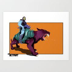Skeletor x MrWetpaint Art Print by Mr Wetpaint - $22.88