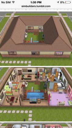 I did something similar in Neopets as a kid. Anyone remember pre-viacom Neopets Or Neohomes RibbonKittenNya Sims 4 Houses Layout, House Layout Plans, House Layouts, Sims Freeplay Houses, Sims 4 House Plans, Silo House, Sims 4 House Design, House Construction Plan, Sims Building
