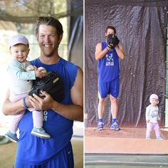 Kershaw and Daughter, pic via Ellen Kershaw on twitter   **  Dodgers Blue Heaven: Dodgers Notes from Spring Training: Spring Game 24/Home Game 10