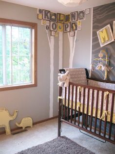 nursery. Still a little too stuffy for my taste, but i do love the zebra print wall. And so would Jess.
