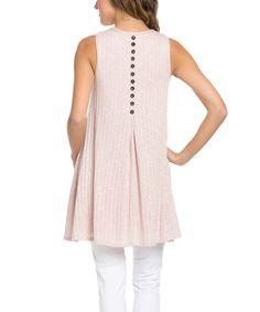 Rose Button-Back Tunic Dress