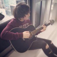 Brendan playing his guitar. Irish Boys, Cute Guys, My Boys, Boy Bands, Guitar, Music, Board, Good Looking Guys, Musica