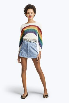 MARC JACOBS Rainbow Boat Neck Sweater. #marcjacobs #cloth #