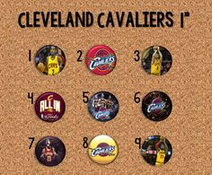 "Cleveland Cavaliers - 1"" Pinback Buttons"