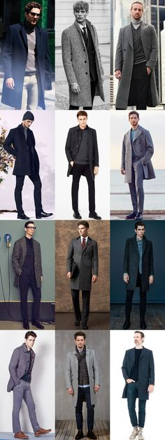 Men's Tweed Outerwear and Coats Outfit Inspiration Lookbook