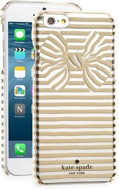 kate spade new york gold bow iPhone case