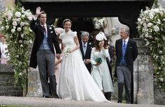Pippa Middleton and James Matthews leave the church as man and wife #dailymail