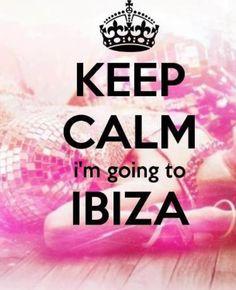 blijf kalm ik ga naar Ibiza