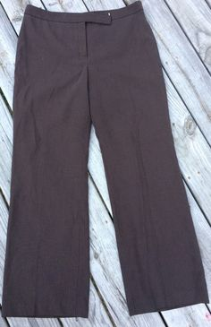Ann Taylor Brown Pinstriped Career Slacks Trouser Boot Cut Dress Pants 14    eBay