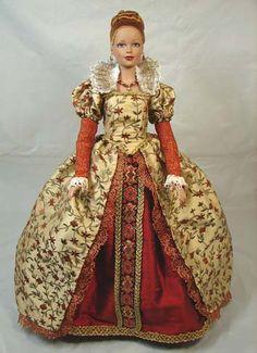 Elizabethan Doll Gown