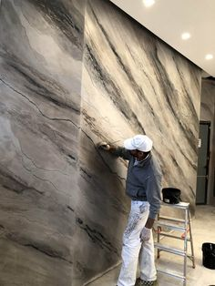 Diy Wall Painting, Marble Painting, Faux Finishes For Walls, Venetian Plaster Walls, Polished Plaster, Decorative Plaster, Interior Design Living Room, Design Bedroom, Beautiful Wall