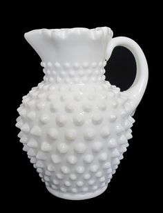 Fenton Hobnail Milk Glass Pitcher $14.00