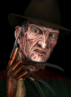 FREDDY KRUEGER Horror Movie Characters, Best Horror Movies, Freddy Krueger, Arte Horror, Horror Art, Horror Costume, Scary Art, Horror Icons, Famous Monsters