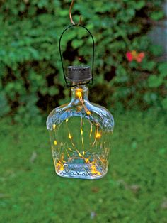 Solar Lantern - Solar Bottle Lantern Kit - Wine Bottle Lights - booze bottle art /painting - Solar Lantern Kit Transforms Your Bottle into an Charming Accent Light The Effective Pictures We Of - Garden Lanterns, Solar Lanterns, Solar Lights, Lighting Your Garden, Backyard Lighting, Outdoor Lighting, Landscape Lighting, Outdoor Fairy Lights, Outdoor Lantern