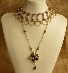 Deux partie collier de Style Renaissance et par ambientzebra
