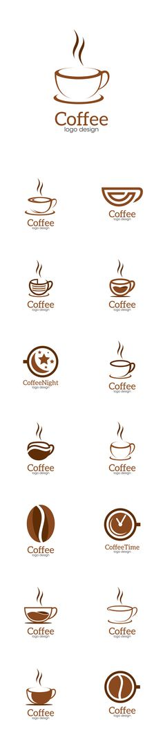 Vector Coffee Creative Concept Logo Design Template