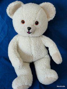 #Snuggle Ad #Teddy Bear Woolly Plush 22  Russ 1986 Lever Bros Promo Seam Tag Vintage