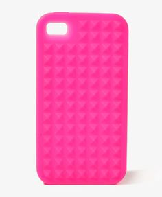 Pyramid Spike Case for iPhone® $7.80    #neon #pink love neon colors!