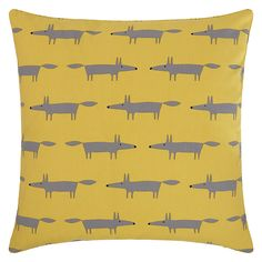Brighten up a room with colourful soft furnishings. My Yellow Scion Mini Mr Fox Cushions from John Lewis add colour and brightness to our grey furniture and white walls, Yellow / Grey (John Lewis, £25)
