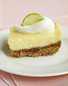 Martha Stewart's Key Lime Bars. Good but very lime-y. Make sure to bake it until it sets completely otherwise a but soupy.