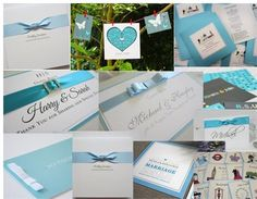 Our elegant Tiffany wedding stationery as featured on Hitched.co.uk Mood Theme: True Blue.