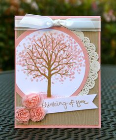 Krystal's Cards: Stampin' Up! Sheltering Tree Winter and Spring #stampinup #krystals_cards #shelteringtree #handstamped #papercrafts #stampsomething #sendacard #cardmaking