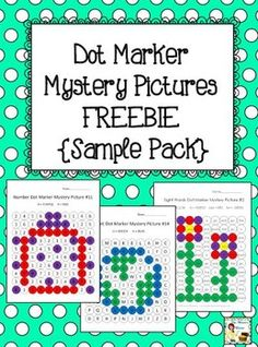 Students will love using Do-a-Dot markers (bingo daubers) to discover the hidden pictures while practicing letter and number recognition and sight words! This sample download includes 3 pictures using letters, numbers, and sight words!
