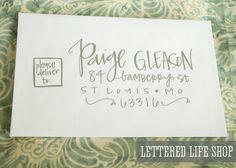 Wedding Calligraphy Envelope Addressing - Silver Modern Calligraphy. $2.00, via Etsy. //