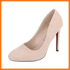 2205d8f487f7 High Heel Damen-Schuhe Plateau Pfennig- Stilettoabsatz High Heels  Ital-Design Pumps