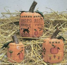 Three Pumpkins - Cross Stitch Pattern from Prairie Grove Peddler